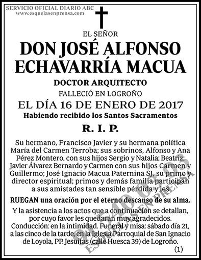 José Alfonso Echevarría Macua